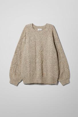 Weekday Renee Sweater - Beige