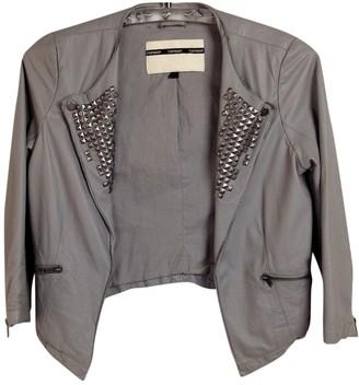Topshop Tophop Khaki Leather Jacket for Women