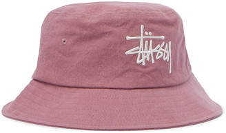 Stussy Logo-Embroidered Cotton-Canvas Bucket Hat