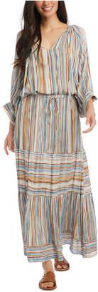 Karen Kane Striped Peasant Maxi Skirt