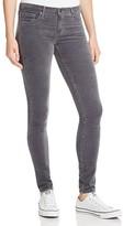 AG Jeans Velvet Super Skinny Legging Jeans in Asteroid Grey