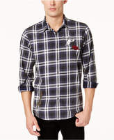 American Rag Men's Ramsay Patched Plaid Shirt, Created for Macy's