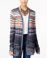 One Hart Juniors' Striped Open-Front Cardigan, Only at Macy's