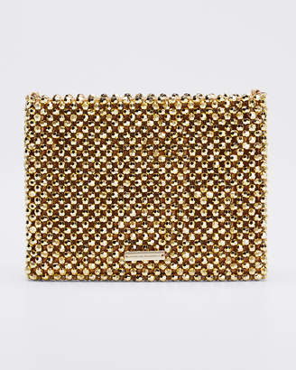 Loeffler Randall Mia Multicolored Beaded Clutch Bag