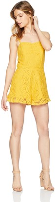 Ali & Jay Women's Sunny SPOT LACE Fitted Sleeveless Romper