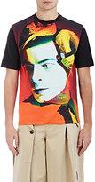 Loewe Men's Fish- & Man-Print Cotton T-Shirt-BLACK