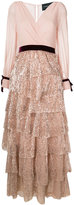 Christian Pellizzari sequin tiered dress