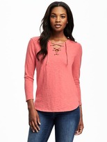 Old Navy Relaxed Lace-Up Top for Women