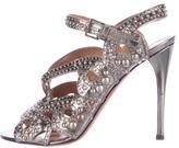 Alaia Studded Metallic Sandals