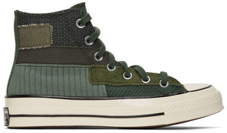 Converse Green Patchwork Chuck 70 High Sneakers