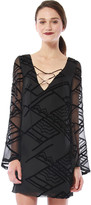 Cynthia Vincent Tie Front Shift Dress