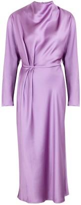 Stine Goya Damai lilac satin midi dress
