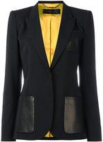 Barbara Bui classic blazer - women - Lamb Skin/Spandex/Elastane/Viscose/Wool - 40