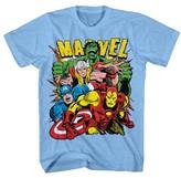 Marvel Boys' Group T-Shirt - Light Blue