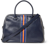Valentino Striped Leather Holdall - Blue