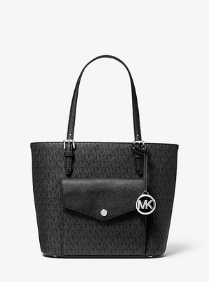 Michael Kors Jet Set Medium Logo Pocket Tote Bag