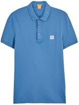 Boss Pavlik Blue Cotton Polo Shirt