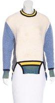 Prabal Gurung Asymmetrical Color Block Sweater