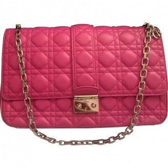 Christian Dior Miss Pink Leather Handbags