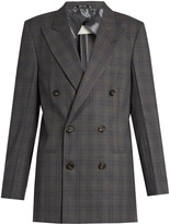 Maison Margiela Double-breasted checked wool jacket