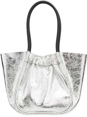 Proenza Schouler Large Ruched Metallic Leather Tote Bag