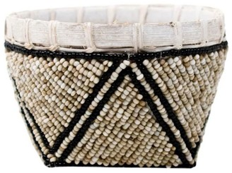 Poppy + Sage Bamboo Trinket Basket Natural With Black Trim