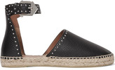 Givenchy Studded Textured-leather Espadrilles - Black