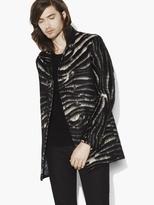 John Varvatos Wool & Mohair Zebra Coat