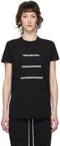 Rick Owens Black Inhumano T-Shirt