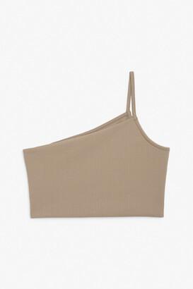 Monki One-shoulder crop top