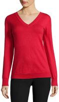 WORTHINGTON Worthington Long-Sleeve Essential V-Neck Sweater