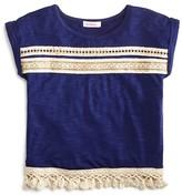 Design History Girls' Embellished Tassel Tee - Big Kid