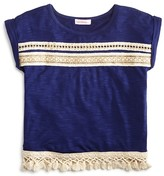Design History Girls' Embellished Tassel Tee - Sizes S-XL