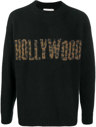 Laneus Hollywood intarsia rib-trimmed jumper