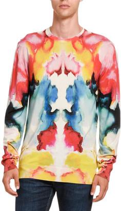 Alexander McQueen Men's Multi Tie-Dye Crewneck Sweater