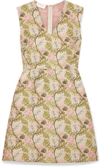 Giambattista Valli Floral-jacquard Dress - Pink