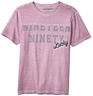 Lucky Brand Kids Nineteen Tee (Big Kids) (Lavender Mist) Boy's T Shirt