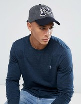 Polo Ralph Lauren Player Baseball Cap Melton Wool In Grey/Navy