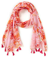 Vince Camuto Collection 18 Rainforest Tasseled Floral Oblong Scarf