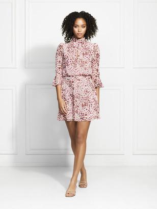 Rachel Zoe Calvin Floral Leopard Printed Mini Dress