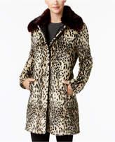Vince Camuto Faux-Fur Leopard-Print Coat