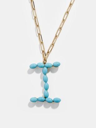 BaubleBar Blair Hera Turquoise Initial Pendant