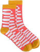 Henrik Vibskov printed socks - women - Cotton/Spandex/Elastane - One Size