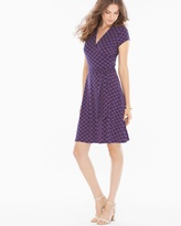 Soma Intimates Short Sleeve Perfect Wrap Dress Fleur de Lis