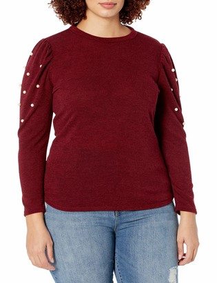 Forever 21 Women's Plus Size Faux Pearl Top