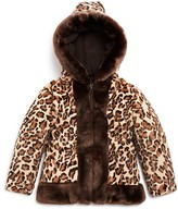 Rothschild Infant Girls' Leopard Print Faux Fur Jacket - Sizes 12-24 Months