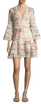 Zimmermann Laelia Floral Eyelet Mini Dress