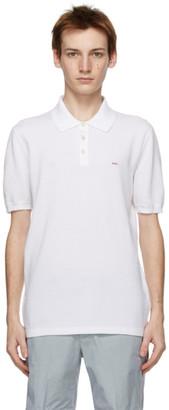 ermenegildo zegna couture White Essential Short Sleeve Polo
