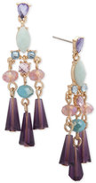 lonna & lilly Gold-Tone Multi-Stone Chandelier Earrings