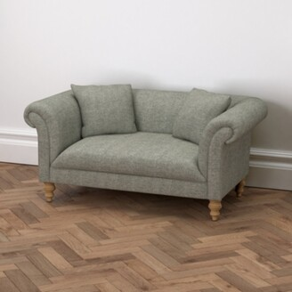 The White Company Earlsfield Tweed Natural Oak Legs Sofa, Tweed Mid Grey, One Size